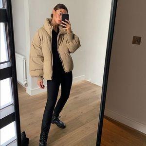 Zara Nude Puffer Jacket